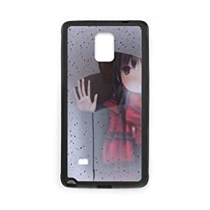 Samsung Galaxy Note 4 Cell Phone Case Black Girl behind the glass JSK903136