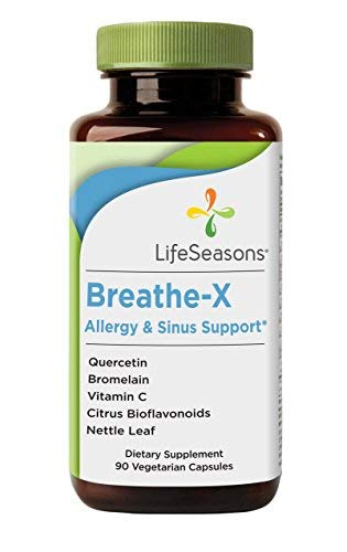 Breathe-X - Fast Acting Allergy Relief Supplement - Reduce Sinus and Nasal Discomfort - Naturally Boost Immune System - With Quercetin, Bromelain, Nettle Leaf - LifeSeasons (90 Capsules)