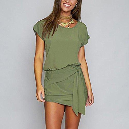 TPulling Verde Triangolo Vestito Corta Manica Militare Donna zTPzrCqxw