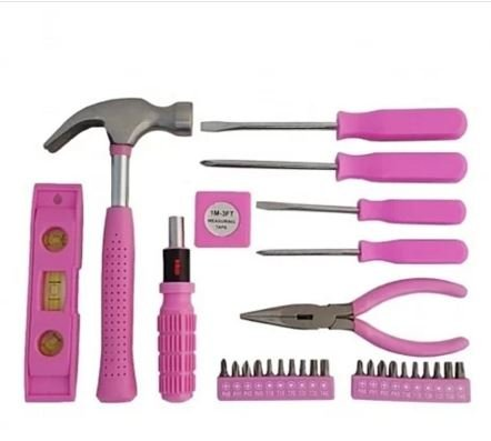 .com: pink ladies women females 30-piece girls tool set box ...