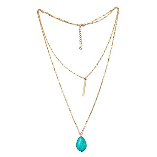 Gold Double Cable - BODYA Stunning Double Layering Lariat Gold Choker Necklace 24