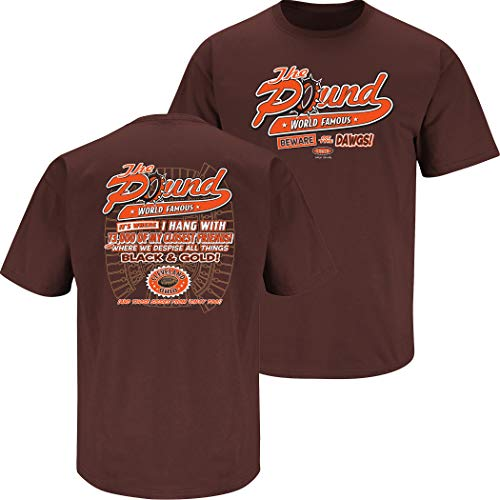 Cleveland Football Fans. The Pound Brown T-Shirt (S-5x) (Short Sleeve, Small)