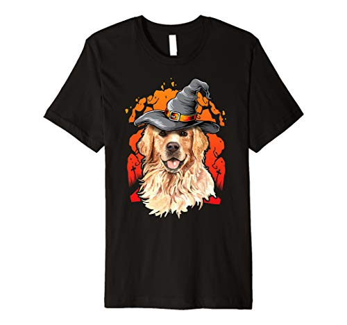 (Golden Retriever Halloween Costume Ideas Happy Halloweenie Premium)