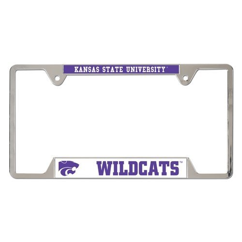 NCAA Kansas State University Metal License Plate Frame TeamName: Kansas State University, Model: 21566010, Car & Vehicle Accessories / Parts (Metal Wincraft)