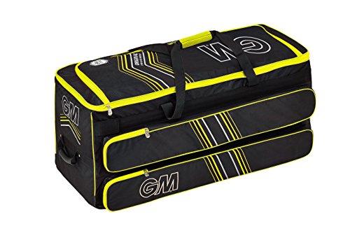 Gunn & Moore Original Easyload GM Original Easyload Wheelie Cricket Kitbag, Black - Yellow by Gunn & Moore