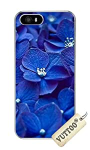 iPhone 5 Case,iPhone 5S Case,VUTTOO Stylish Blue Small Flowers Hard Case For Apple iPhone 5/5S - PC Transparent