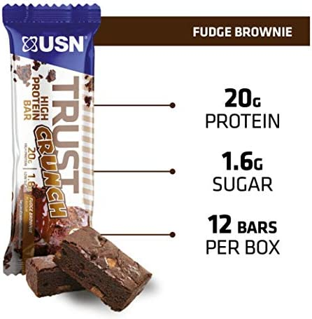 USN Lot de 12 barres Trust Crunch Brownie 60g