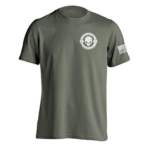 - Divided We Fall Military Sniper Skull T-Shirt Medium Military Green