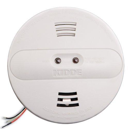 Kidde PI2010 Smoke Alarm Dual Sensor with Battery Backup, White, 4-Pack by Kidde