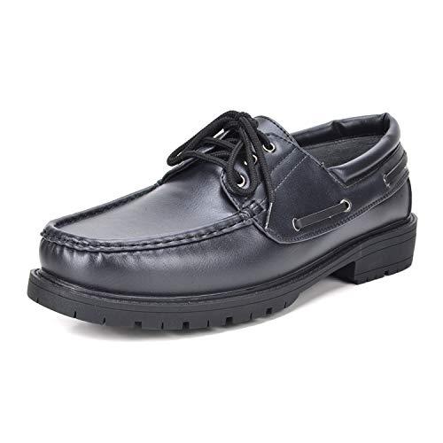 Bruno Marc Men's HANKOK-01 Black Oxfords Moccasins Boat Shoes Size 7.5 M US
