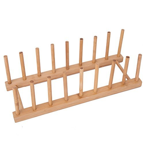 Bamboo Dish/Plate/Bowl/Cup/Book/Pot Lid/Drying Rack Stand Drainer Storage Holder Organizer HBlife