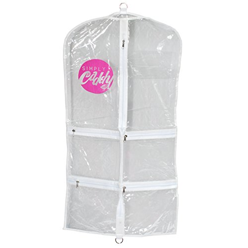 [Costume Garment Bag With Pockets, White Trim] (Dance Costumes For Pageants)