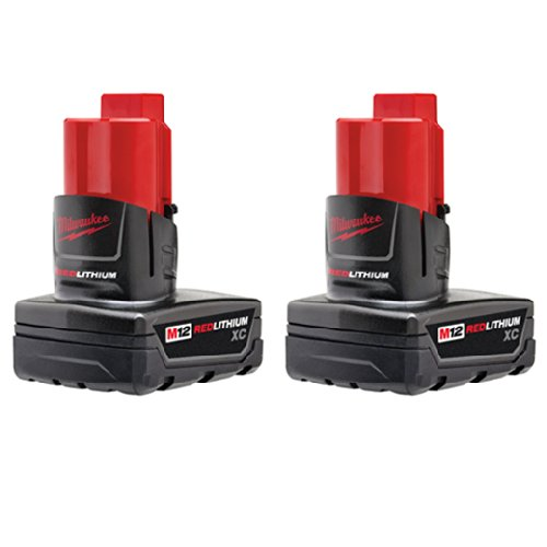 Milwaukee 48-11-2412 Twin Pack of 3.0 Amp Hour Extended Capacity 12V Lithium Ion -