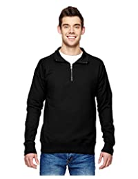 Hanes Nano Men's Premium Lightweight Quarter Zip Jacket, N290, L, Black