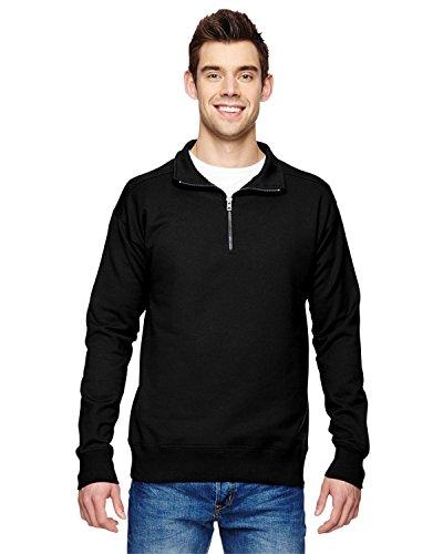 Hanes Mens Quarter Zip Fleece Jacket