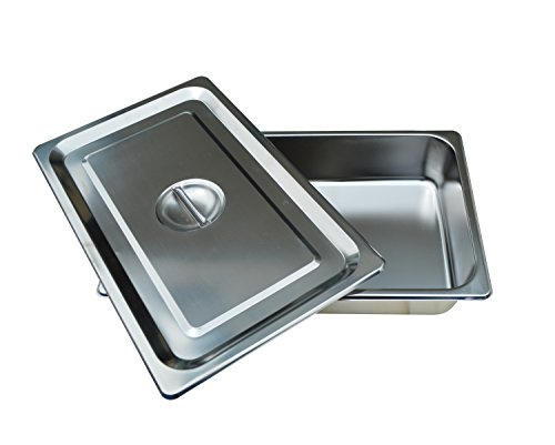 Full Size Pan Stainless Steel 4 Iinches Deep Lid included by Kitchen Supply