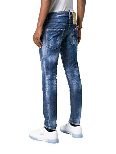 Cotone Jeans S71lb0567s30144470 Uomo Dsquared2 Blu qZ6Hptp