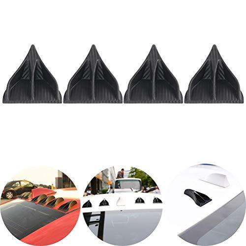 (IYSHOUGONG 4 Pcs Mini Shark Fin Diffuser Vortex Generator Carbon Fiber Spoiler Wing Eagle Claw Shark Fins Tails Wings Accessories)