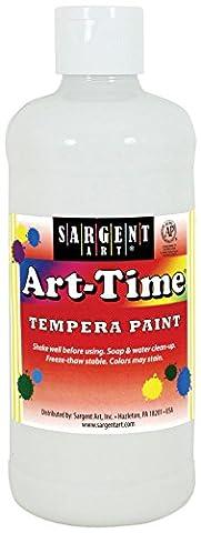 Sargent Art 17-6496 16 Oz White Art-Time Tempera Paint (White Paint Tempera)