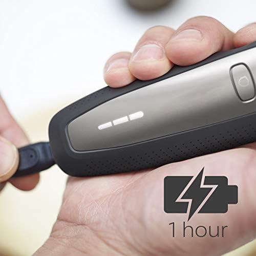 Philips Serie 6000 S6640/44 - Afeitadora Eléctrica para hombre con sistema de protección para la piel, uso en seco/húmedo, 60 min de batería, incluye perfilador de barba y funda de viaje: Amazon.es:
