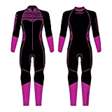 AKONA Women's 3mm Full Suit. Quantum Stretch Neoprene. High Stretch Suit; Suitable for Scuba, Snorkeling, Paddle Boarding, Kayaking, or Surfing