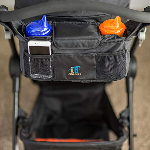 Stroller Organizer by Luna Bag Magnetic Closure System High Quality Accessory