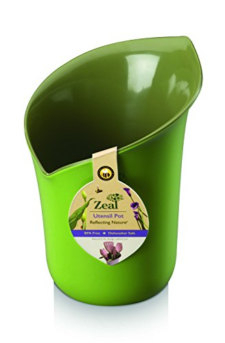 Lily Dish - ZEAL Melamine Utensil Pot - Portion of Sales to Save The Bees - Dishwasher Safe - Two Tone Green Calla Lily Design