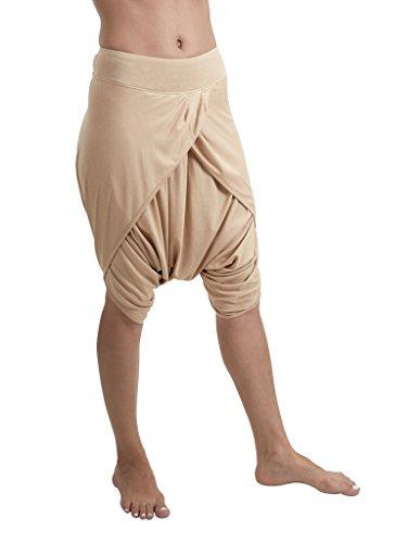 Proyog Women's Yoga Dhoti Shorts X-Small Sand