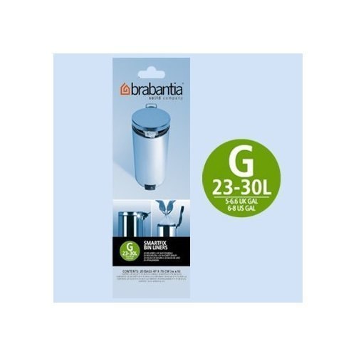2 x Brabantia - Juego de 12 rollos de 20 tipo G 30 litros ...