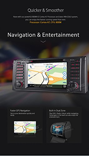 XTRONS 7 Inch HD Digital Touch Screen Car Stereo Radio In-Dash DVD Player with GPS Navigation CANbus for BMW 5 Series X5 Reversing Camera Included by XTRONS (Image #5)