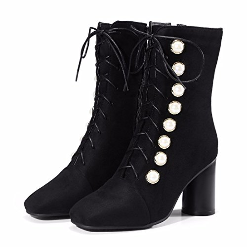 Black boots and yards heels suede Winter boots big wqAEP0