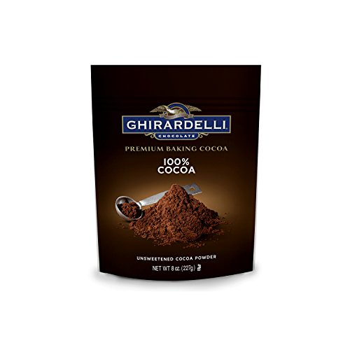 - Ghirardelli Chocolate Unsweetened Cocoa Pouch, 8 Ounce