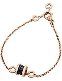 B.Zero1 18K Pink Gold and Black Ceramic Bracelet- Size: M/L