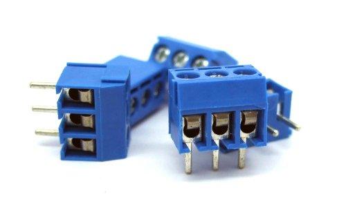 Uxcell a11042100ux0278 5 x 3 Terminals Poles PCB Screw Terminal Block Connector, 300V 16A