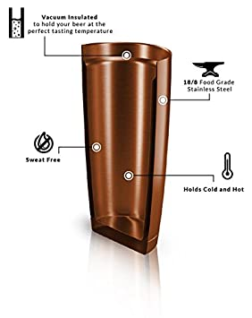 Craftr Insulated Beer Cup Stainless Steel Vacuum Insulated Tumbler Holds Your Beer at The Perfect Tasting Temperature
