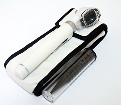 BDEALS White Fiber Optic Otoscope Mini Pocket Medical Ent Diagnostic Set