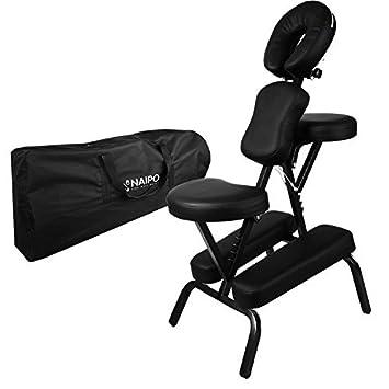 Naipo Chaise De Massage Shiatsu Sige Ergonomique Masseur Assis En Tissu Oxford Avec Sac Transport