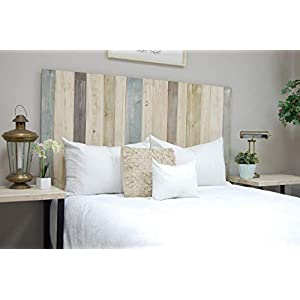 Farmhouse Mix Headboard King Size, Hanger Style, Handcrafted. Mounts on Wall. Easy Installation