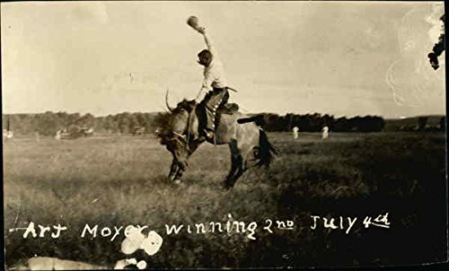 - Art Moyer Winning 2nd July 4th Rodeos Original Vintage Postcard