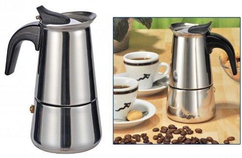 Gravidus Espressokocher Espressokanne 2 Tassen Edelstahl