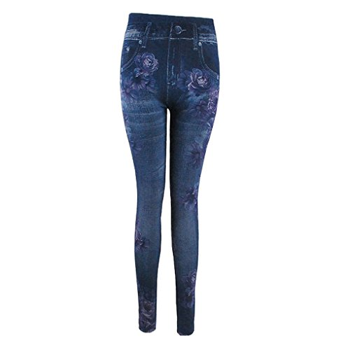 2018 Leggings Mode Pencil Femmes Plus Slim Print Camallia Jeans Krastal Denim Size UxZTwZ6