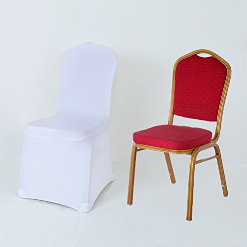 GFCC Pack of 10 White Stretch Chair Cover