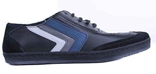 Energie , Baskets pour homme Noir Schwarz / Blau Taille 40