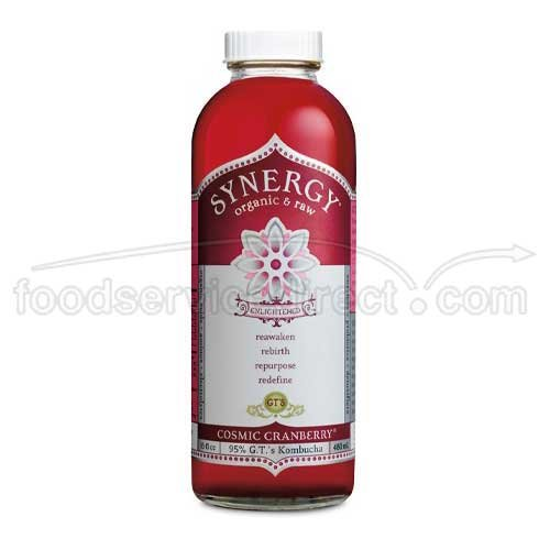 GTs Enlightened Synergy Organic and Raw Kombucha Cosmic Cranberry, 16 Ounce -- 12 per case. by GTs Kombucha