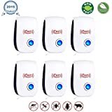 Ultrasonic Pest Repeller 6 Packs - [2019 Upgrated] Pest Control Ultrasonic Repellent - Electronic Insects & Rodents Repellent for Mosquito, Mouse, Cockroaches,Rats,Bug, Spider, Ant, Flies.