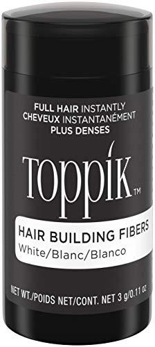 TOPPIK Hair Building Fibers, White, 0.11 oz. ()