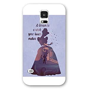 Customized White Frosted Disney Princess Cinderella Samsung Galaxy S5 Case