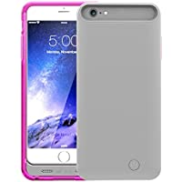 TAMO iPhone 6 Plus/6s Plus Extended Battery Case, TAMO 4000 mAh Dual-Purposed Ultra-Slim Protective Extended Battery Charging Case - Black - Battery - Retail Packaging – Pink