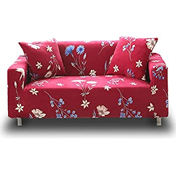 Amazon Com Hotniu Stretch Sofa Loveseat Cover Pattern Arm