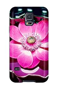 Galaxy S5 Case Cover - Slim Fit Tpu Protector Shock Absorbent Case (flowers S)